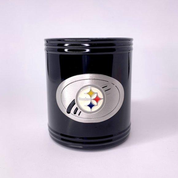 Vintage Pittsburgh Steelers Metal Koozie Can Holder